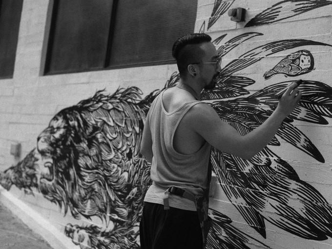 AIR-INK: arte a partir da poluição atmosférica