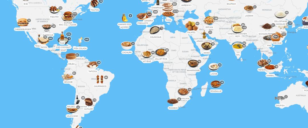 TasteAtlas: um mapa de sabores pelo mundo