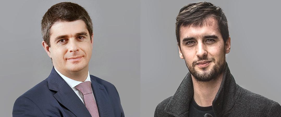 Francisco Horta e Costa, managing director da CBRE, e Ricardo Santos, CEO da start-up Heptasense