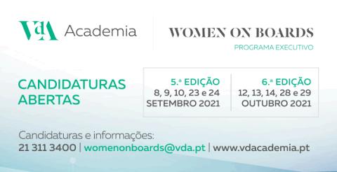 Women on boards - candidaturas abertas 5ª e 6ª edição